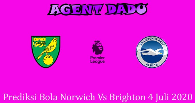 Prediksi Bola Norwich Vs Brighton 4 Juli 2020