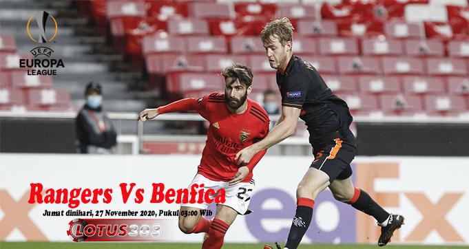 Prediksi Bola Rangers Vs Benfica 27 November 2020