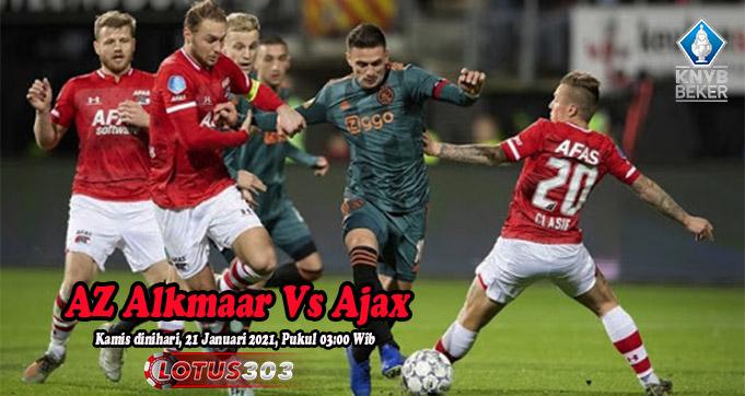 Prediksi Bola AZ Alkmaar Vs Ajax 21 Januari 2021