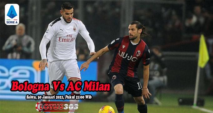 Prediksi Bola Bologna Vs AC Milan 30 Januari 2021