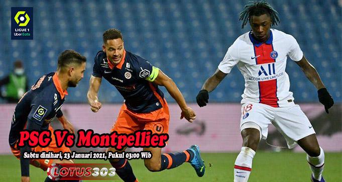 Prediksi Bola PSG Vs Montpellier 23 Januari 2021