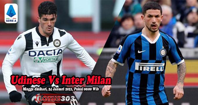 Prediksi Bola Udinese Vs Inter Milan 24 Januari 2021