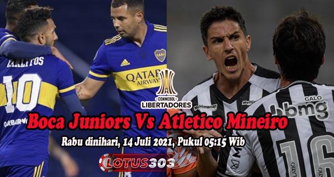 Prediksi Bola Boca Juniors Vs Atletico Mineiro 14 Juli 2021