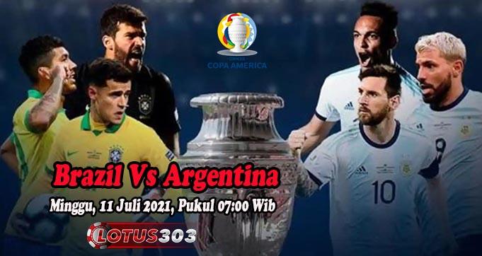 Prediksi Bola Brazil Vs Argentina 11 Juli 2021