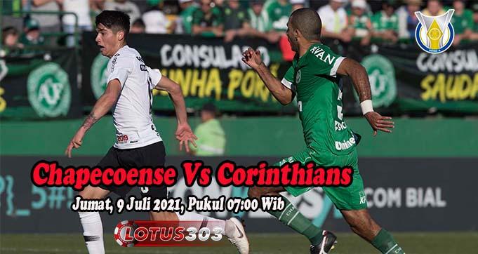 Prediksi Bola Chapecoense Vs Corinthians 9 Juli 2021