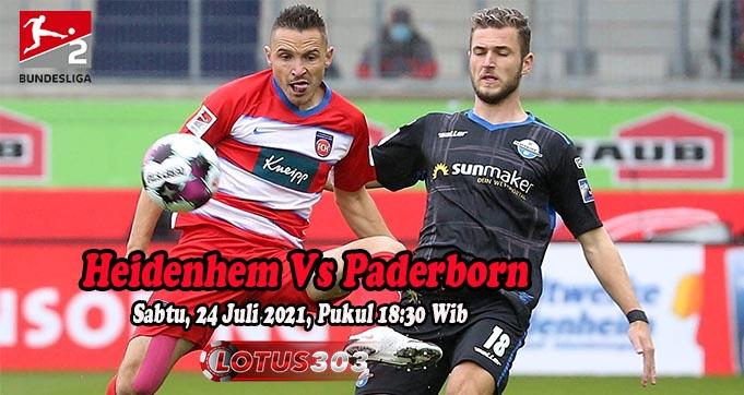 Prediksi Bola Heidenhem Vs Paderborn 24 Juli 2021