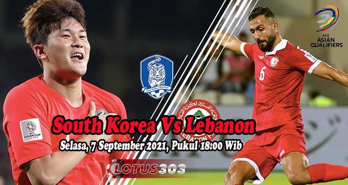 Prediksi Bola South Korea Vs Lebanon 7 September 2021